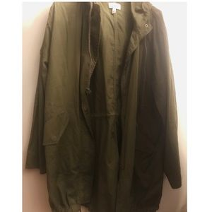 BP Olive Green Hooded Cotton Anorak Jacket